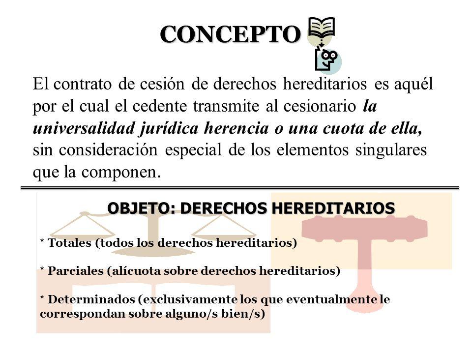 OBJETO: DERECHOS HEREDITARIOS