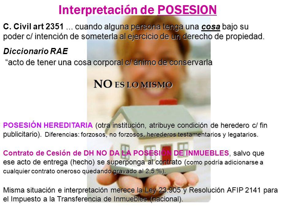 Interpretación de POSESION