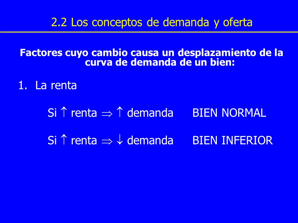 2.2 Los conceptos de demanda y oferta