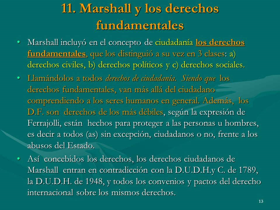 11. Marshall y los derechos fundamentales