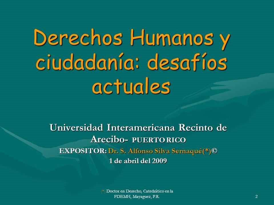 Derechos Humanos y ciudadanía: desafíos actuales