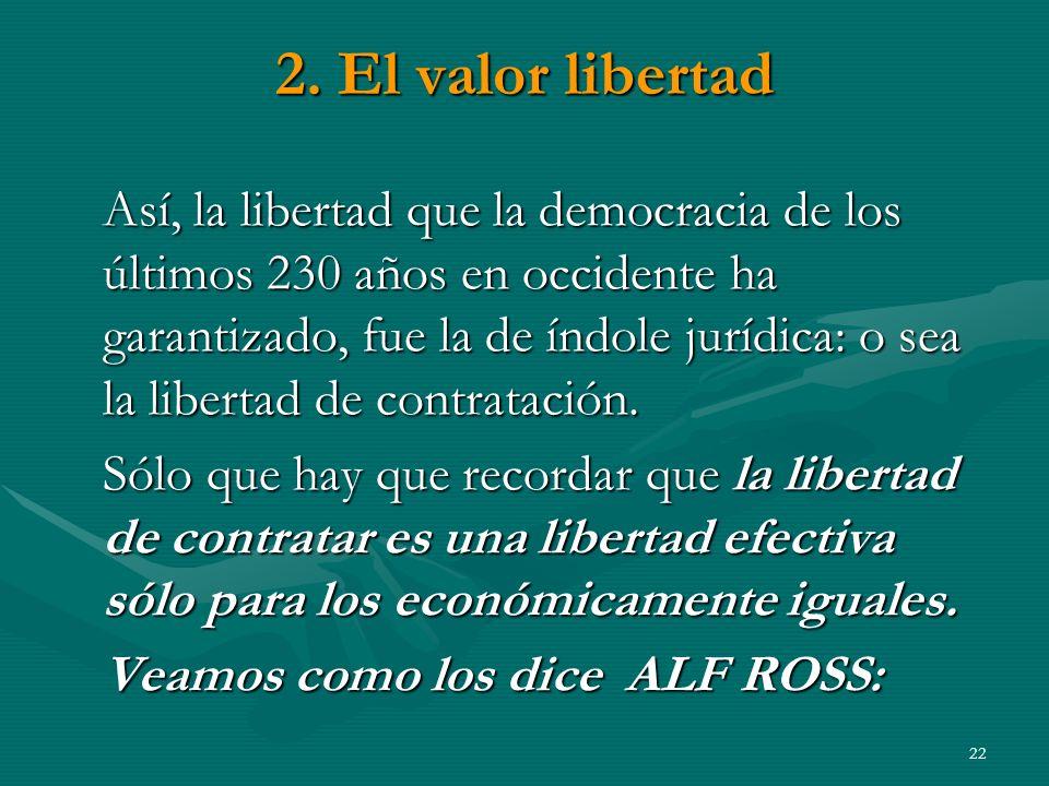 2. El valor libertad
