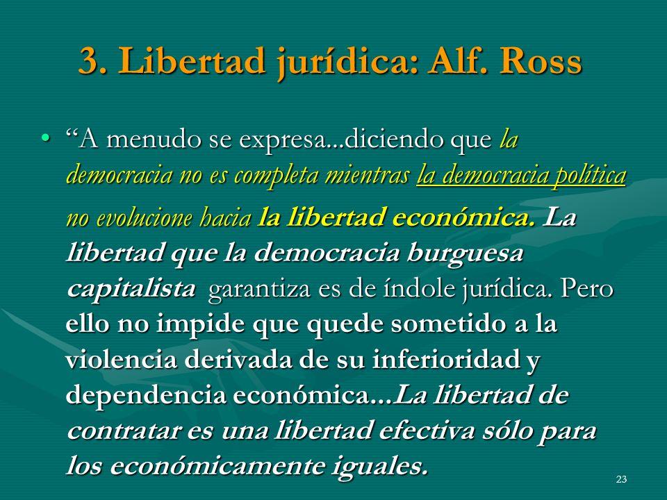 3. Libertad jurídica: Alf. Ross