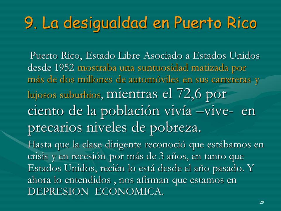 9. La desigualdad en Puerto Rico