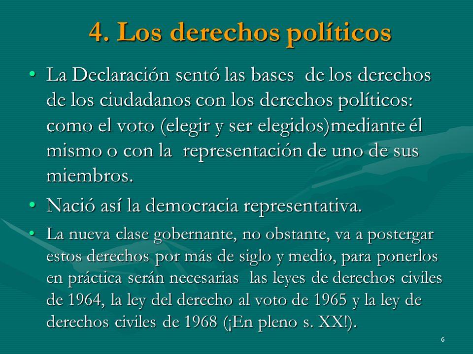 4. Los derechos políticos