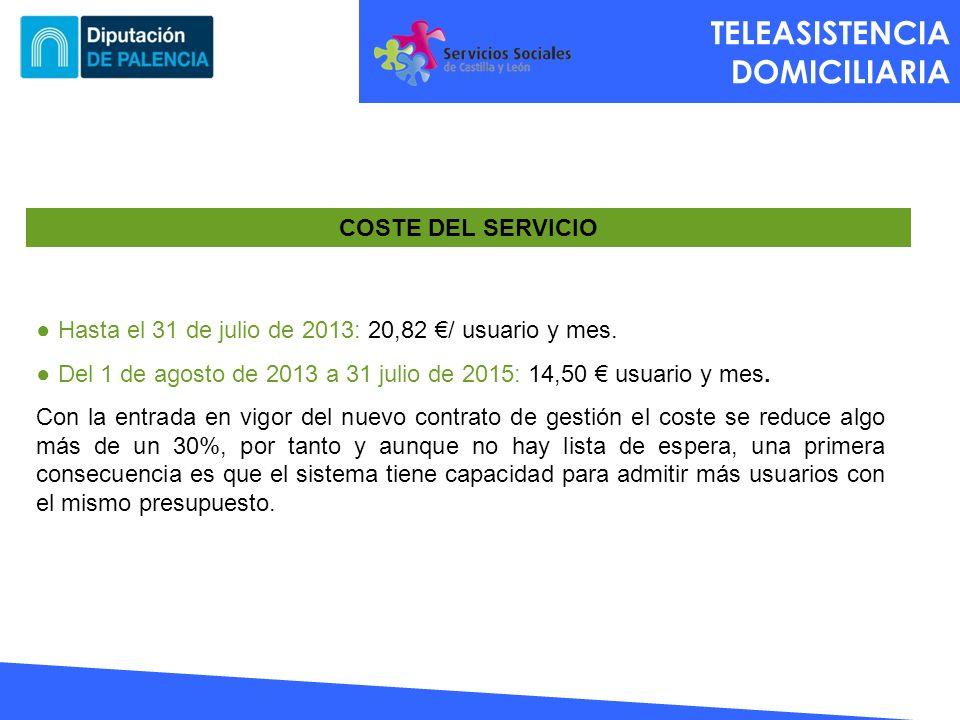 TELEASISTENCIA DOMICILIARIA COSTE DEL SERVICIO
