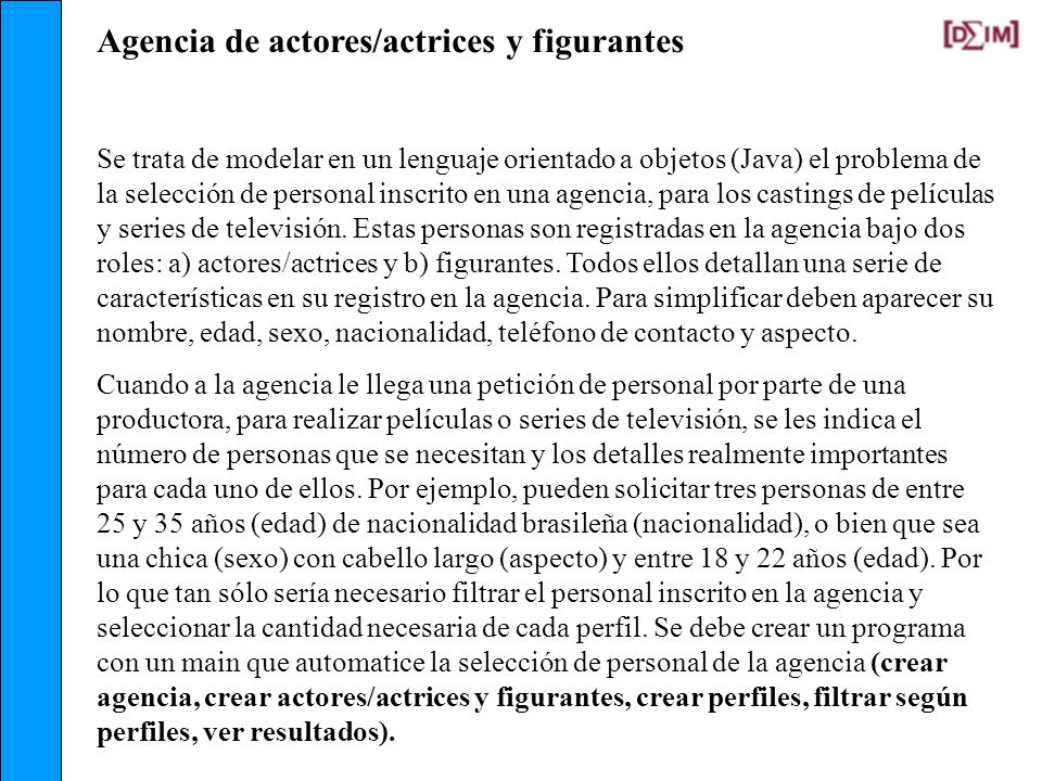 Agencia de actores/actrices y figurantes