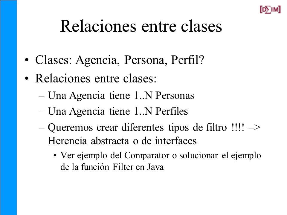 Relaciones entre clases