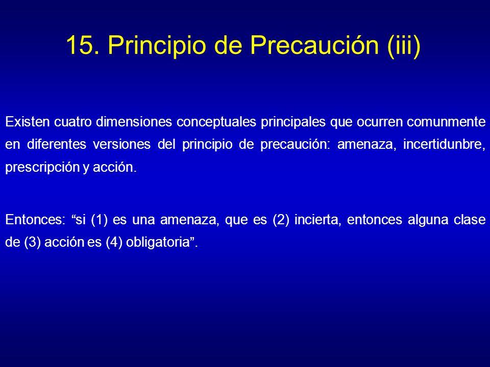 15. Principio de Precaución (iii)