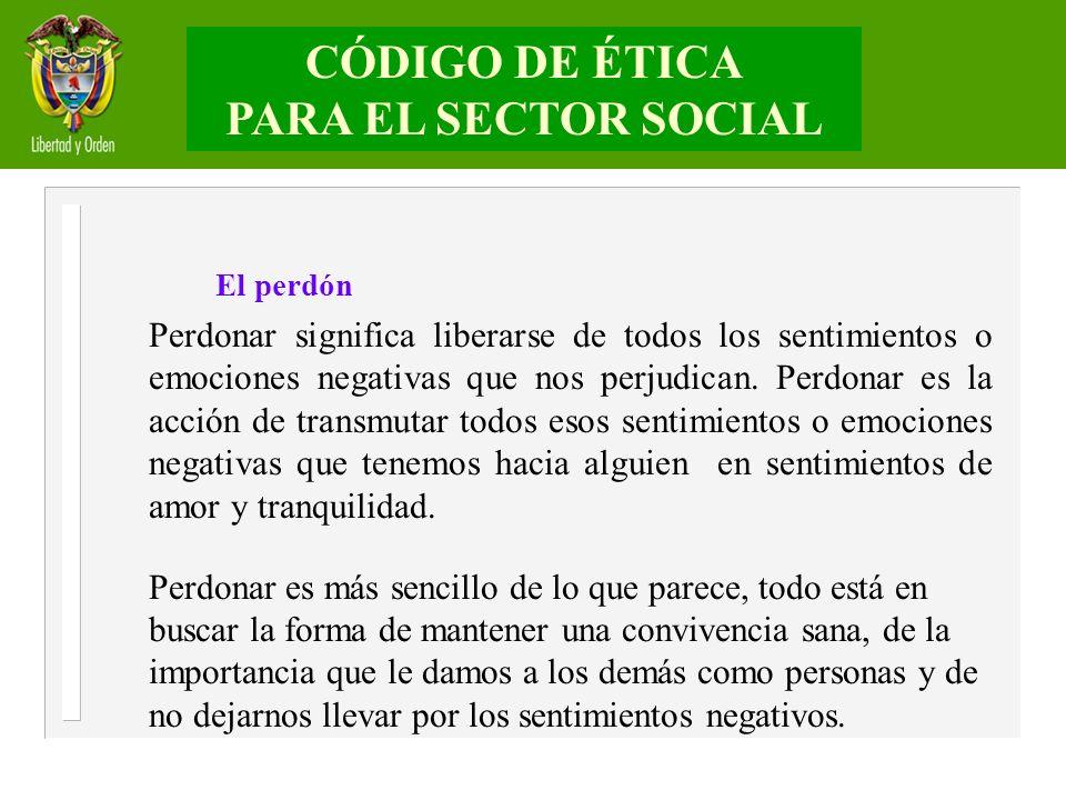 CÓDIGO DE ÉTICA PARA EL SECTOR SOCIAL