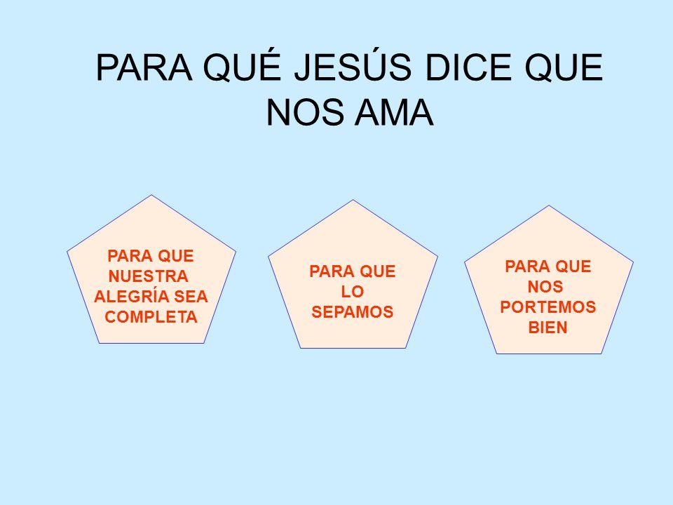 PARA QUÉ JESÚS DICE QUE NOS AMA