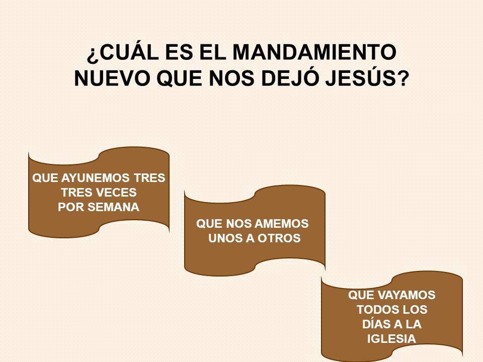 ¿CUÁL ES EL MANDAMIENTO NUEVO QUE NOS DEJÓ JESÚS