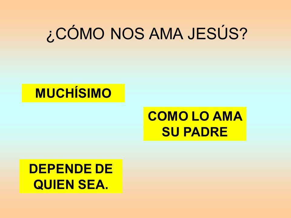 ¿CÓMO NOS AMA JESÚS MUCHÍSIMO COMO LO AMA SU PADRE