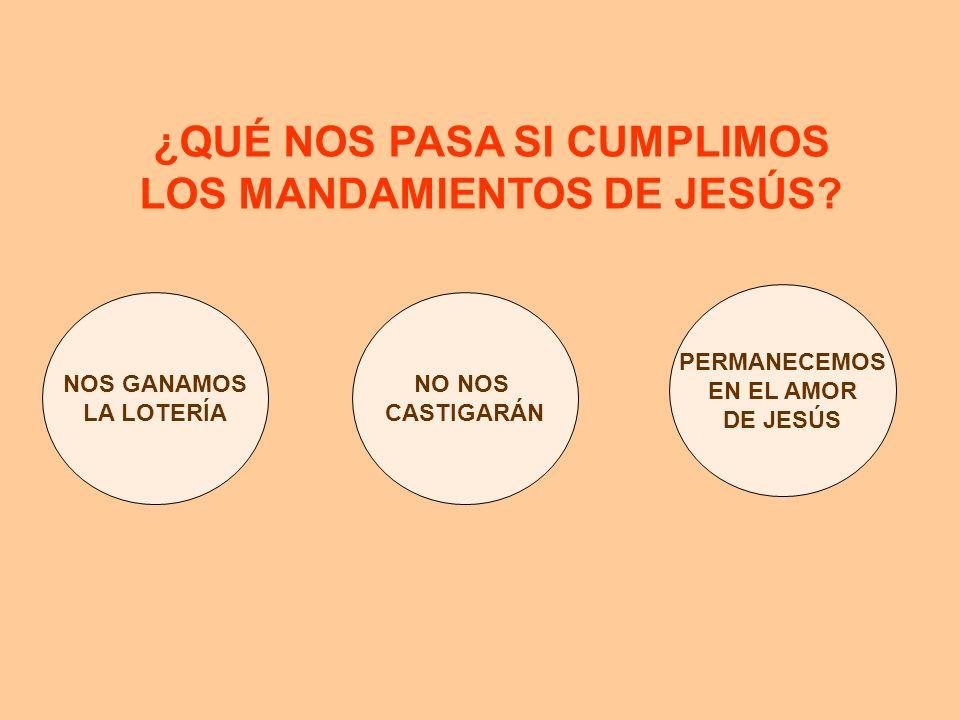 ¿QUÉ NOS PASA SI CUMPLIMOS LOS MANDAMIENTOS DE JESÚS