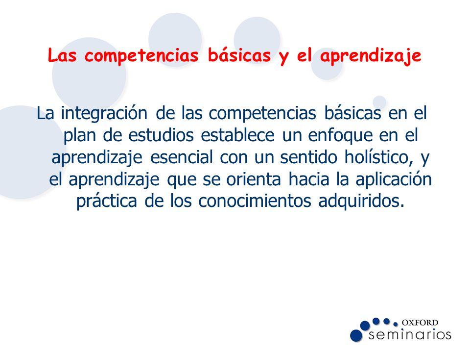 Las competencias básicas y el aprendizaje