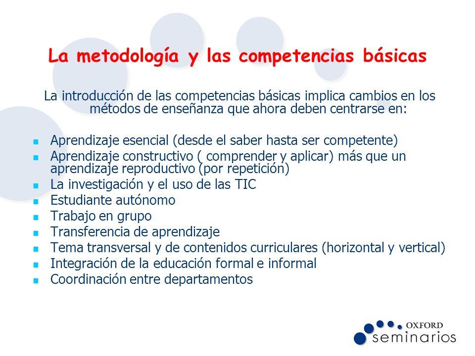 La metodología y las competencias básicas