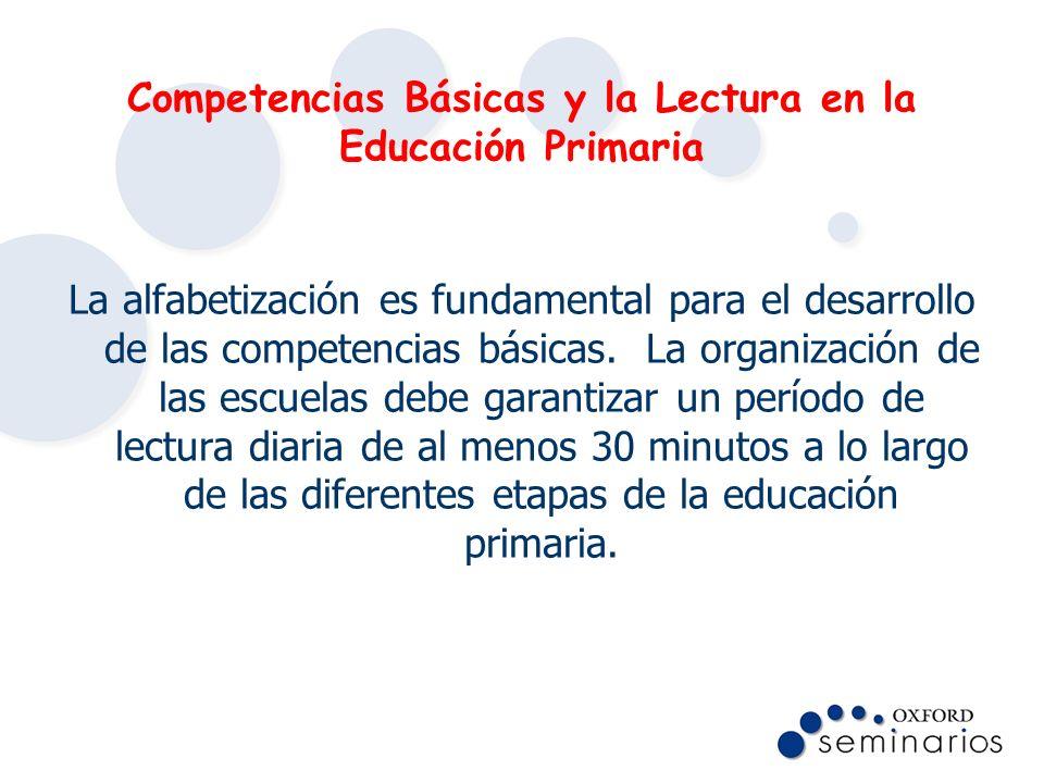 Competencias Básicas y la Lectura en la Educación Primaria