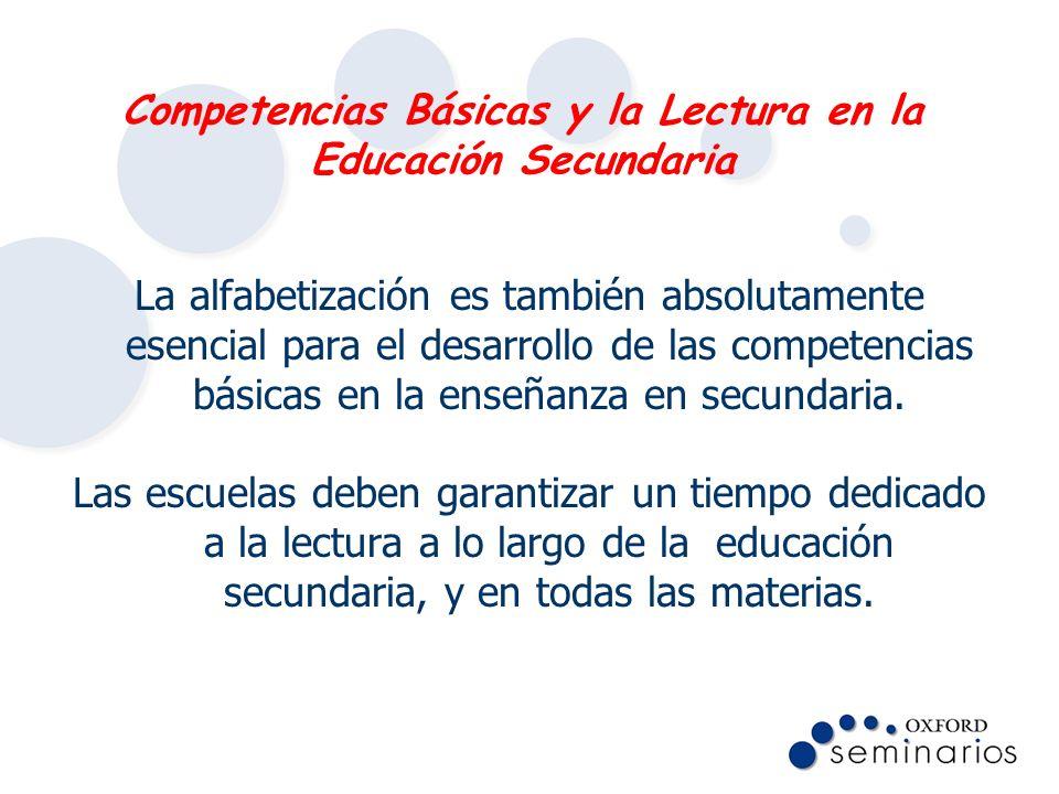 Competencias Básicas y la Lectura en la Educación Secundaria