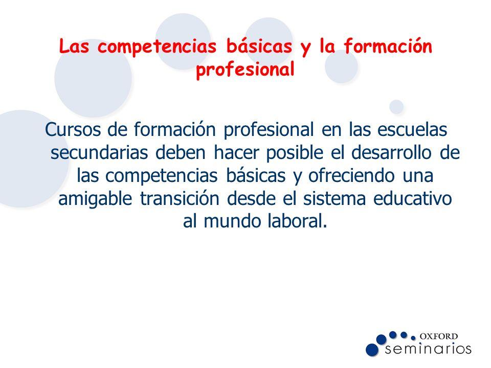 Las competencias básicas y la formación profesional