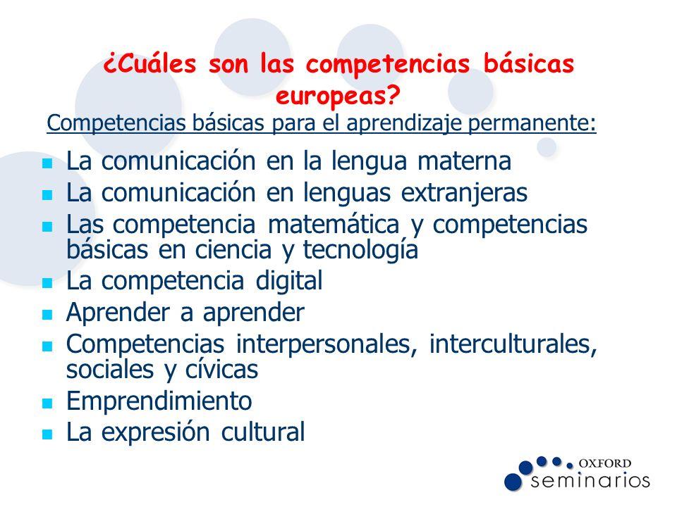 ¿Cuáles son las competencias básicas europeas
