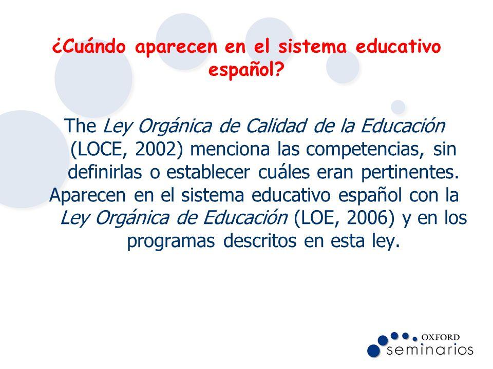 ¿Cuándo aparecen en el sistema educativo español