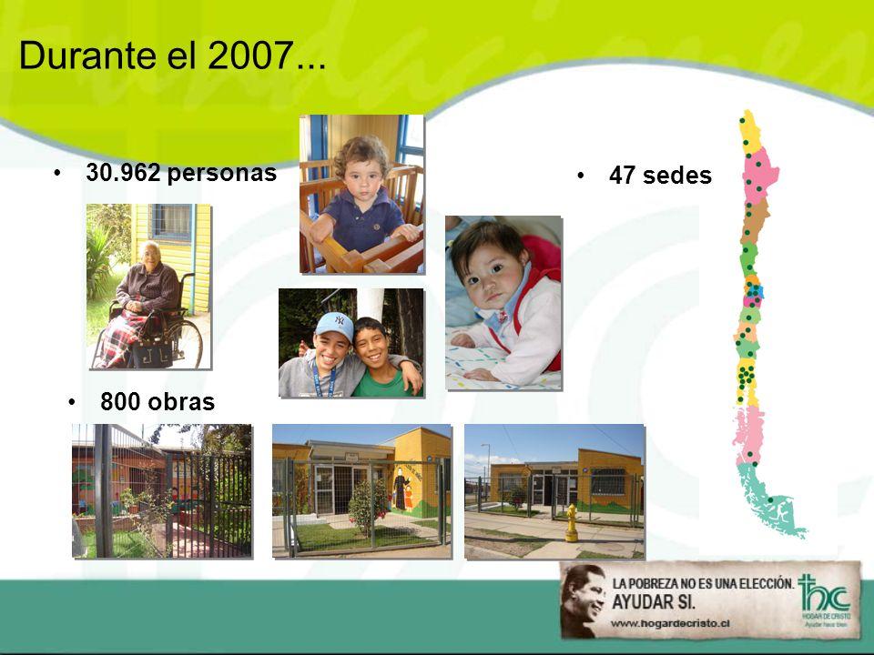 Durante el 2007... 30.962 personas 47 sedes 800 obras