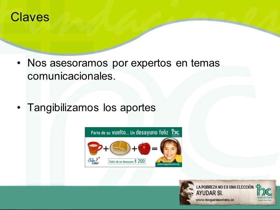 Claves Nos asesoramos por expertos en temas comunicacionales.