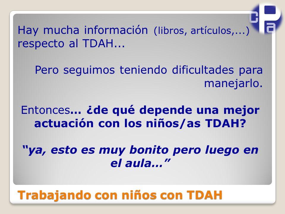 Trabajando con niños con TDAH