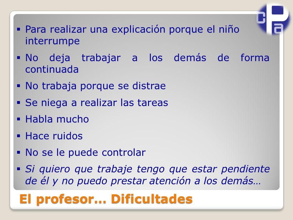El profesor… Dificultades