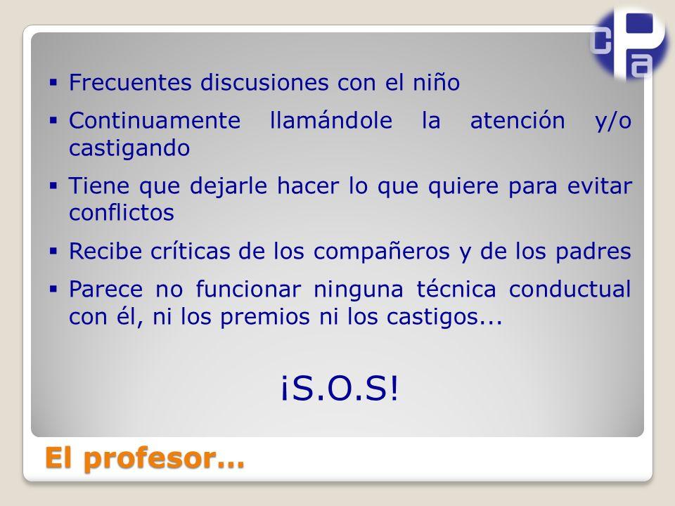 ¡S.O.S! El profesor… Frecuentes discusiones con el niño