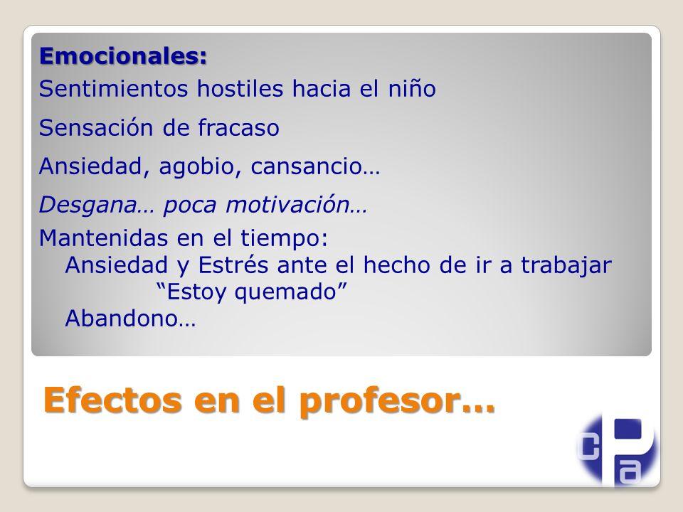 Efectos en el profesor…