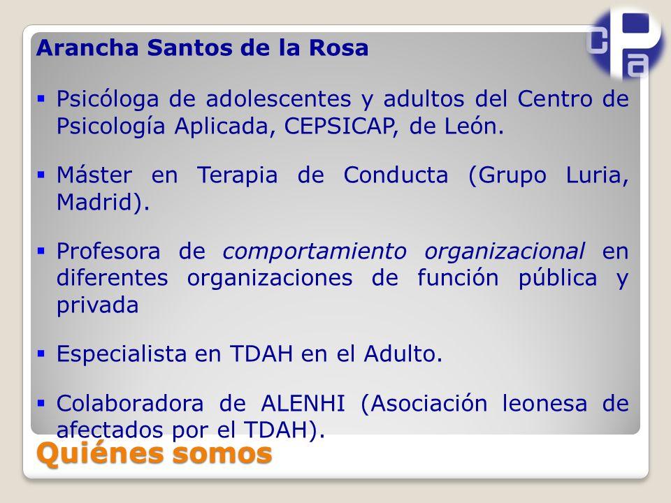 Quiénes somos Arancha Santos de la Rosa