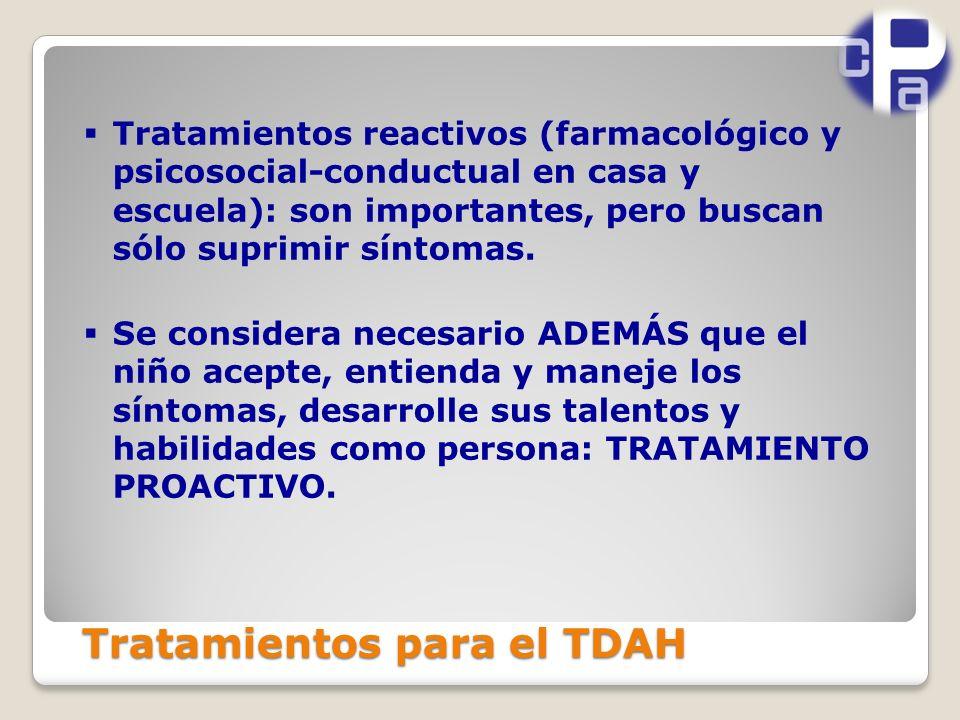 Tratamientos para el TDAH