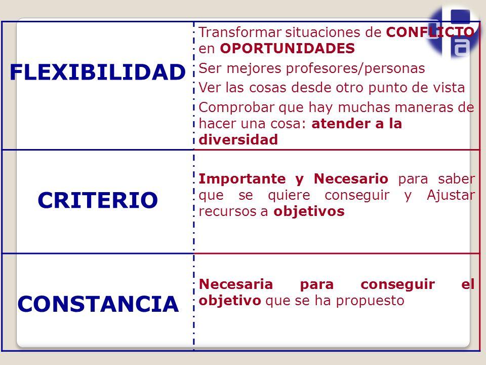 FLEXIBILIDAD CRITERIO CONSTANCIA