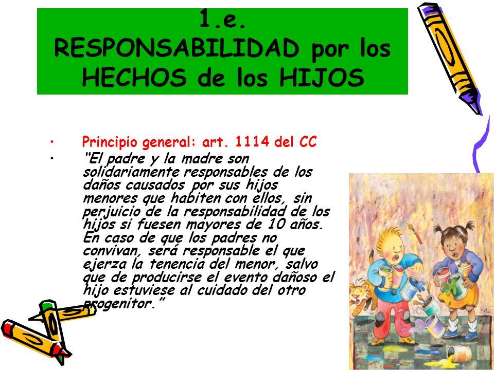 1.e. RESPONSABILIDAD por los HECHOS de los HIJOS