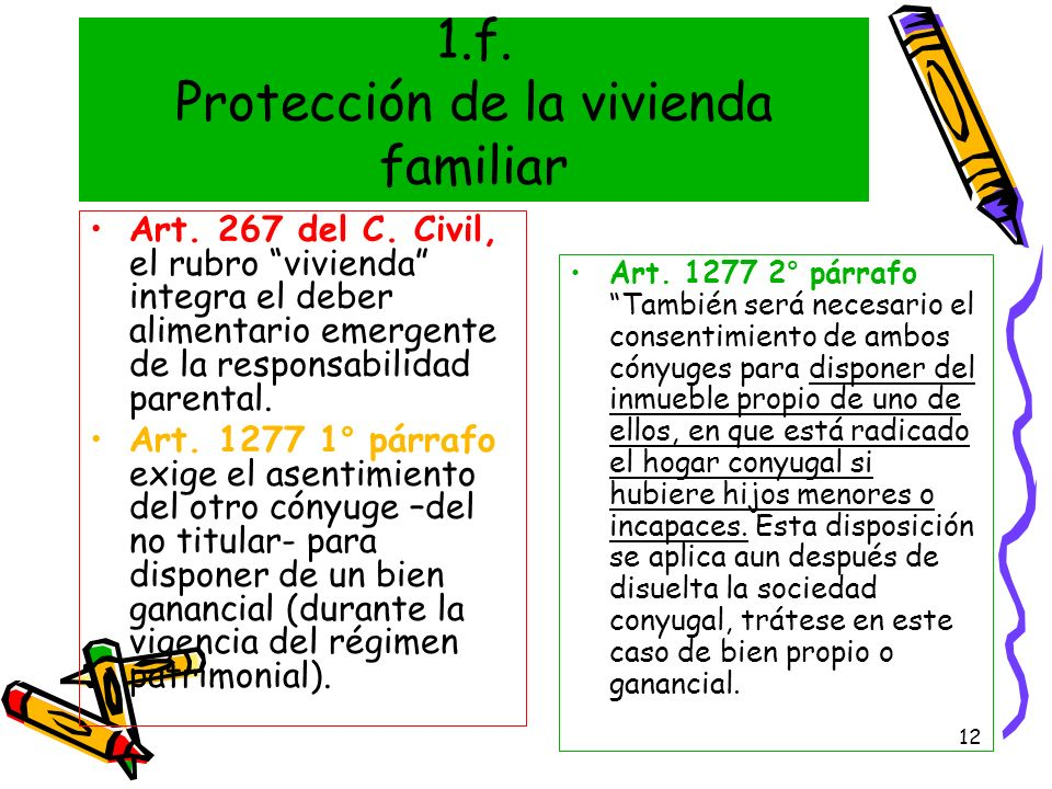 1.f. Protección de la vivienda familiar