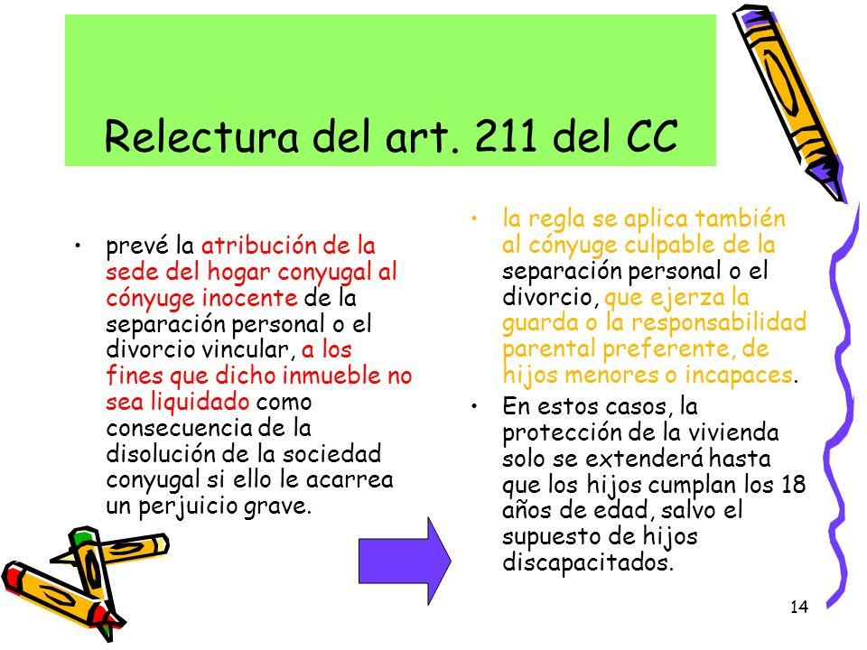 Relectura del art. 211 del CC