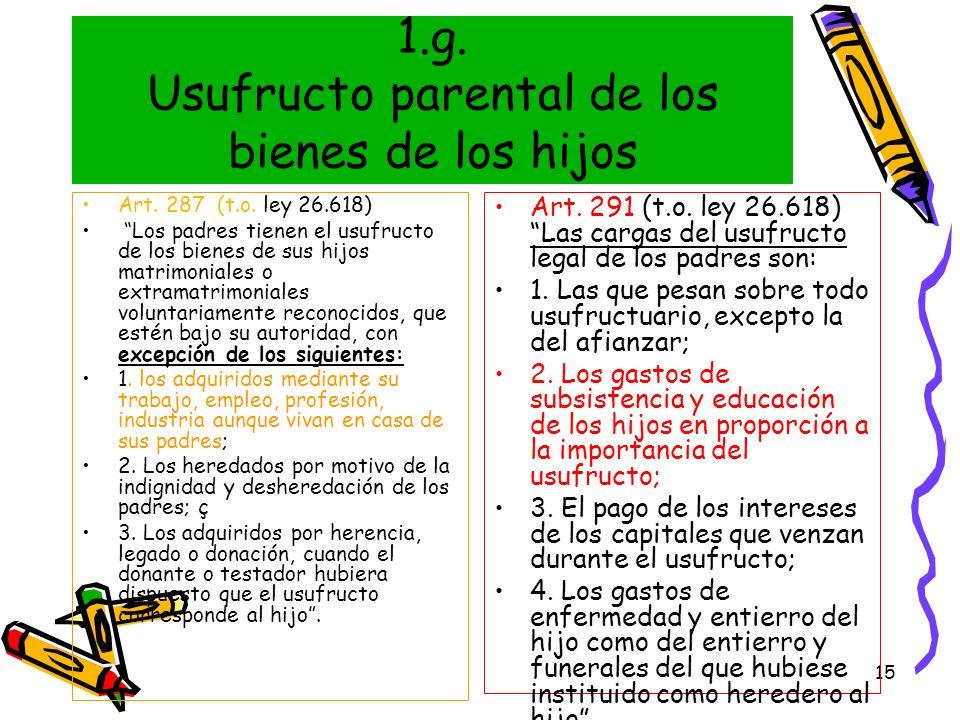 1.g. Usufructo parental de los bienes de los hijos
