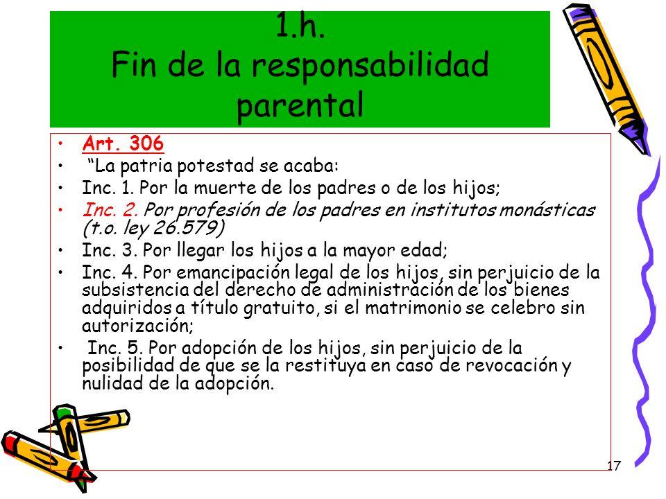 1.h. Fin de la responsabilidad parental