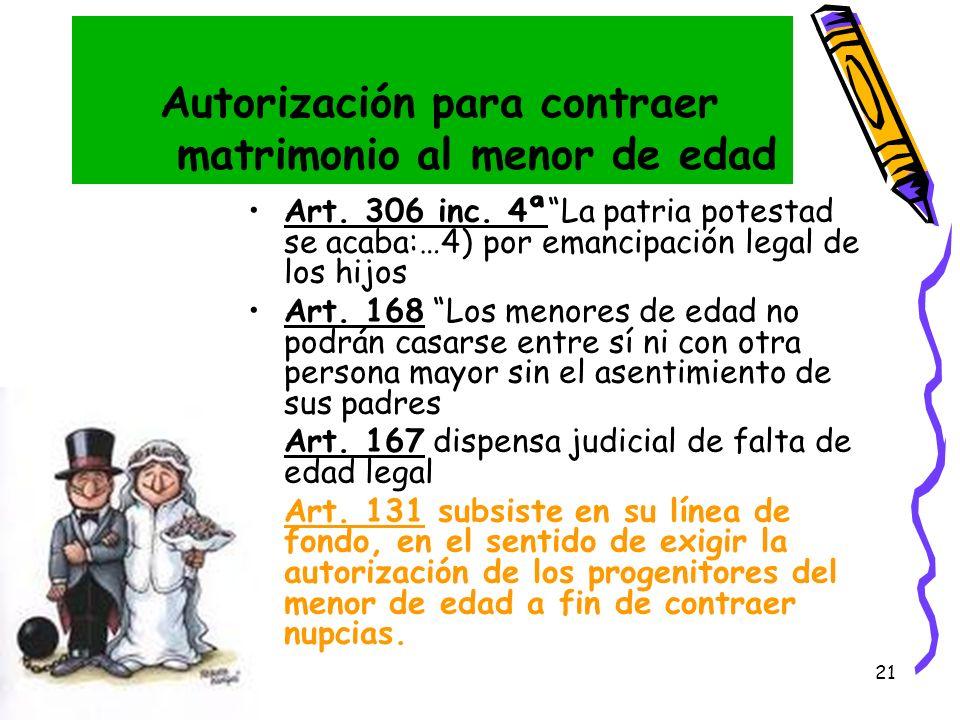 Autorización para contraer matrimonio al menor de edad