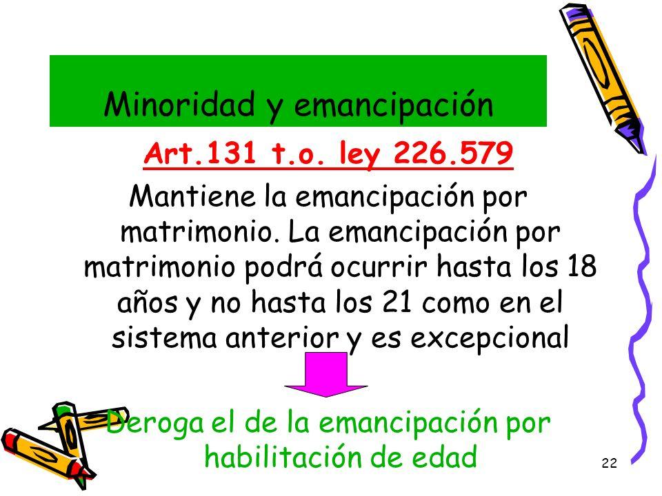 Minoridad y emancipación