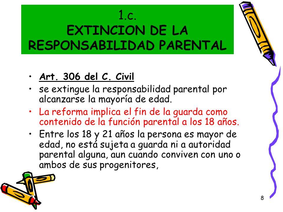 1.c. EXTINCION DE LA RESPONSABILIDAD PARENTAL