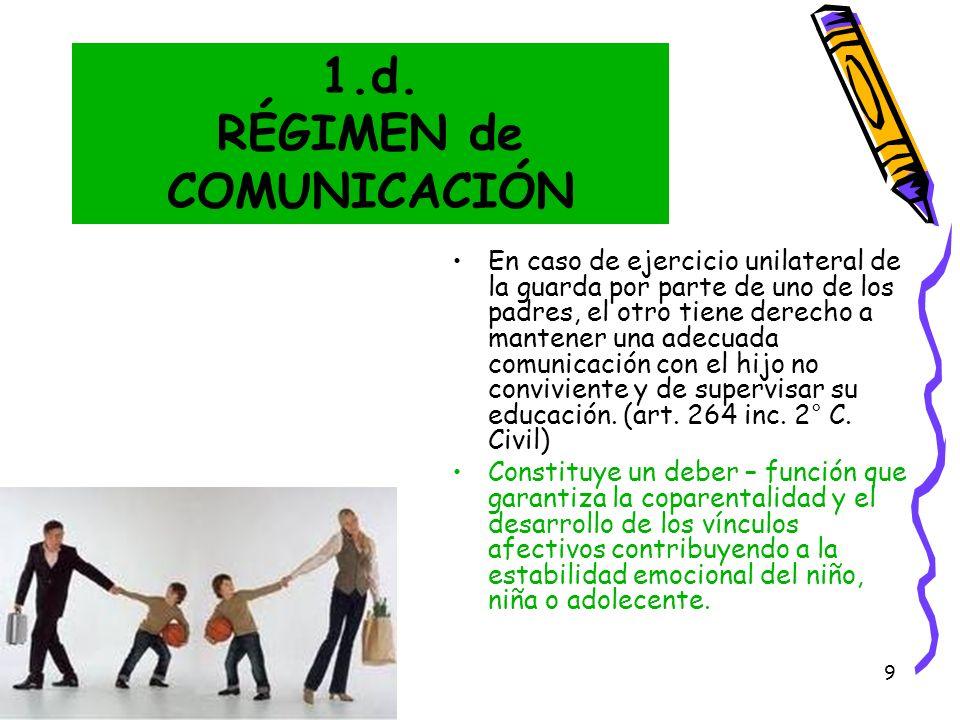 1.d. RÉGIMEN de COMUNICACIÓN