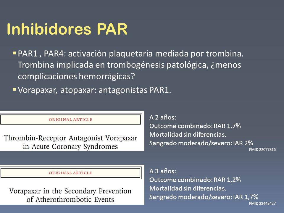 Inhibidores PAR