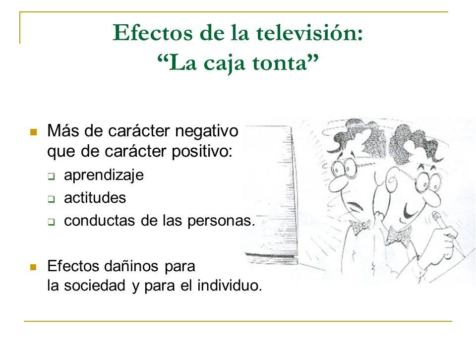 Efectos de la televisión: La caja tonta