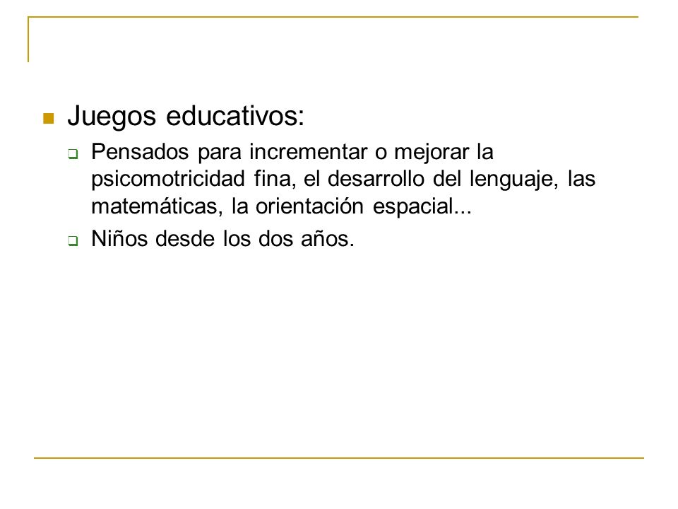 Juegos educativos:
