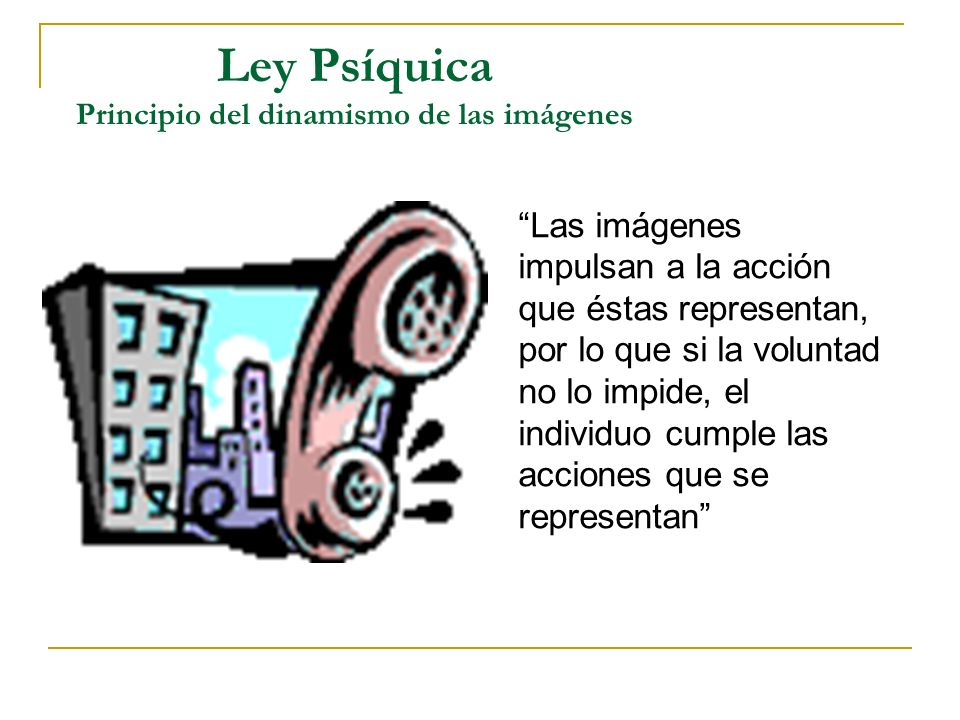 Ley Psíquica Principio del dinamismo de las imágenes