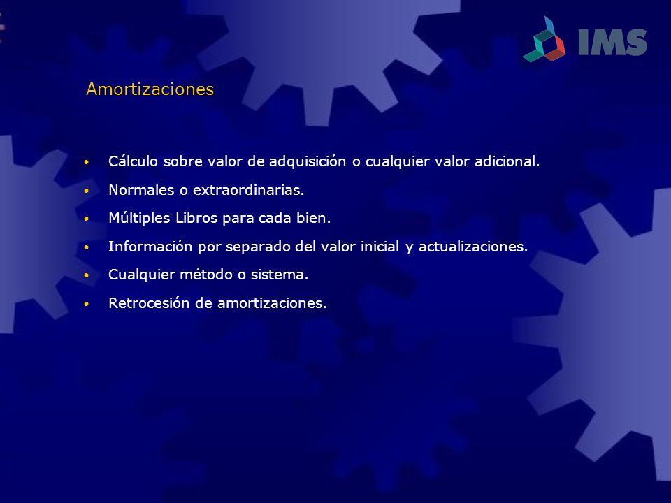 Amortizaciones Cálculo sobre valor de adquisición o cualquier valor adicional. Normales o extraordinarias.