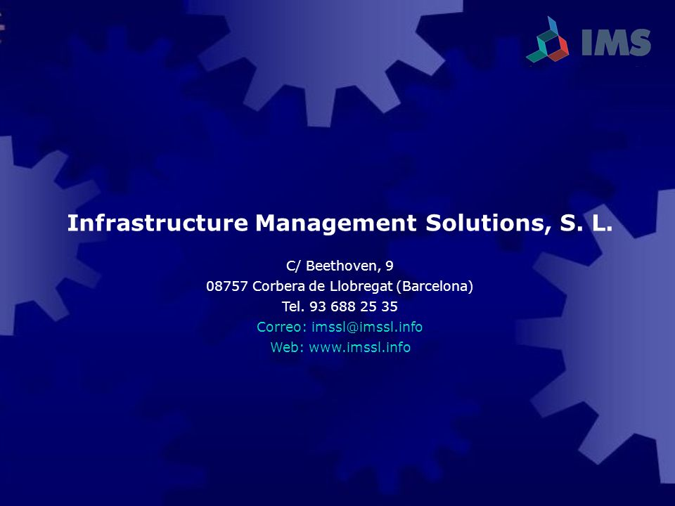 Infrastructure Management Solutions, S. L.