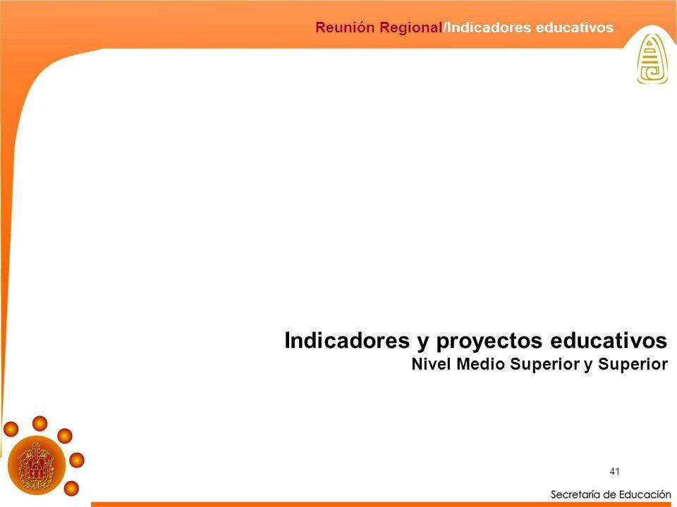Indicadores y proyectos educativos